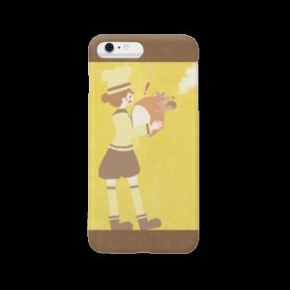 やたにまみこのiPhoneケース(iPhone6 Plus / 6s Plus用)◆ ema-emama『pain-de-mie』 スマートフォンケース