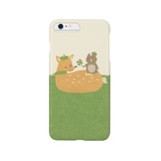 やたにまみこのiPhoneケース(iPhone6 Plus / 6s Plus用)◆ ema-emama『happiness-clover』 Smartphone cases