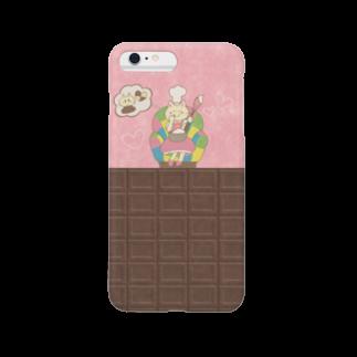 やたにまみこのiPhoneケース(iPhone6 Plus / 6s Plus用)◆ ema-emama『sweet-cat』スマートフォンケース