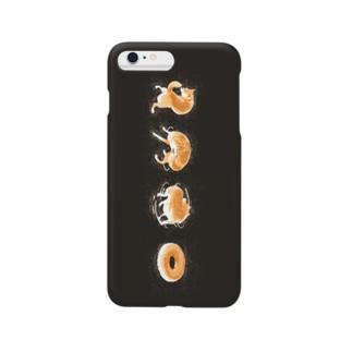 ドーナツになった犬 Smartphone cases