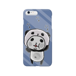パンダinぱんだ(ハァハァ)ネイビー Smartphone cases