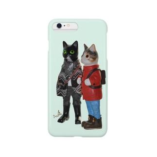里見八猫堂のネコドモ Smartphone cases
