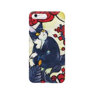 むらかみしのの青猫花猫〜松梅〜 Smartphone cases