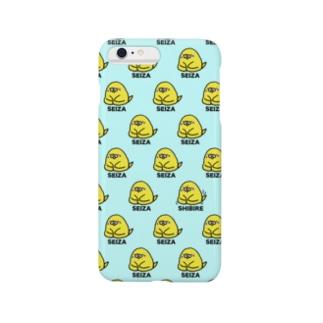 初めての正座【青】 Smartphone cases