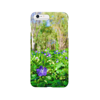junkishiokaのお花ムラサキ Smartphone cases