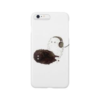 白と黒の生き物 Smartphone cases