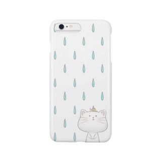 雨の日のしらたまくん スマートフォンケース