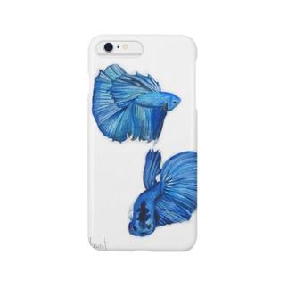 ショーベタ*ソリッドブルー Smartphone cases
