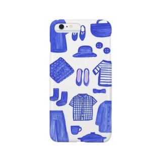 ブルー青blue Smartphone cases