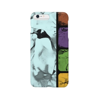 yoshica's design caféのペンギン[ダブル‐トーン(double tone)] Smartphone cases