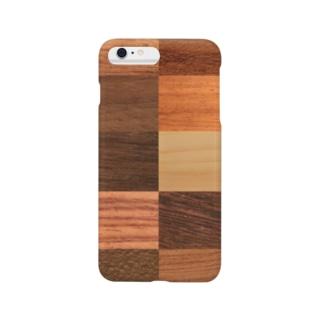 自然の木の模様を楽しむウッディーな木目 Smartphone Case