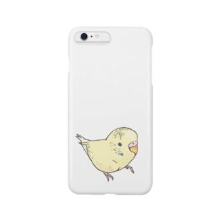 可愛いセキセイインコ おすましちゃん【まめるりはことり】 Smartphone cases