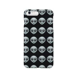 エイリアン/宇宙人/emoji/絵文字 Smartphone cases