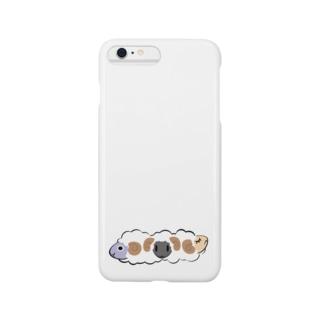 かわいい羊 Smartphone cases