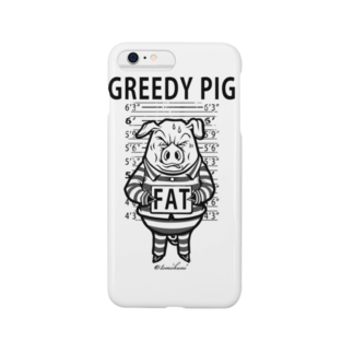 TOMOKUNIのGREEDY PIGスマートフォンケース