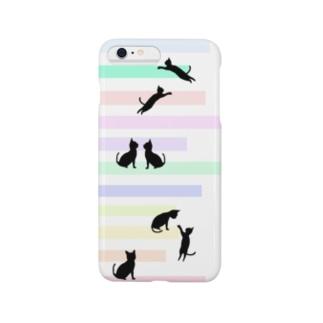猫(ネコ)とパステルカラーの階段 Smartphone Case