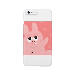 お腹タプタプウサギ Smartphone cases