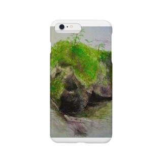 苔むした岩 Smartphone cases
