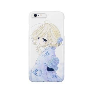 紫陽花と浴衣 Smartphone cases