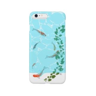 鯉、水面から落つる Smartphone cases