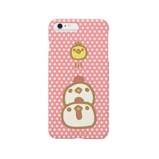 なかよしおやこ(あか) Smartphone cases