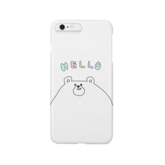しろくまフェイス Smartphone cases