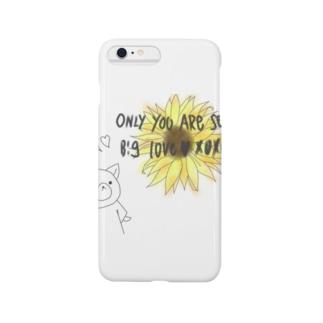 向日葵(あなただけを見つめています) Smartphone cases