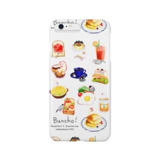 文鳥カフェで朝食を Smartphone cases