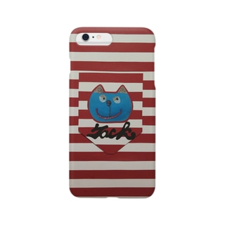 猫『jack pocket』 Smartphone cases