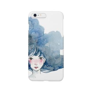 blue girl スマートフォンケース