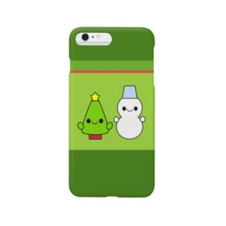 ゆきだるまちゃんとツリーちゃん Smartphone cases