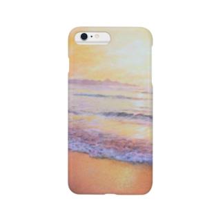 夕陽ヶ浦海岸の夕陽 Smartphone cases