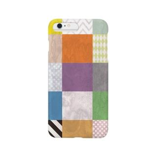カラフルタイル Smartphone cases