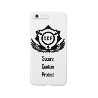 SCP財団ロゴグッズ-逆向き翼黒[SCP Foundation] Smartphone cases