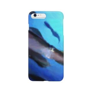 泳ぐアオリイカ Smartphone cases