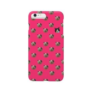 竹男と松子(桃) Smartphone cases