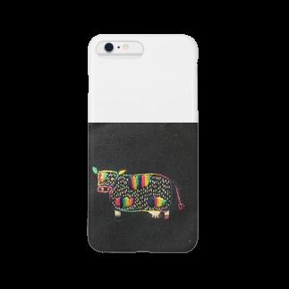 ayaka-kasの干支モチーフ 丑 Smartphone cases