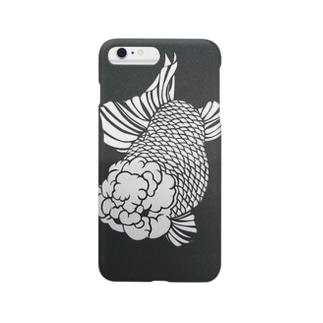 切り絵金魚 ランチュウ 〜踊〜 Smartphone cases