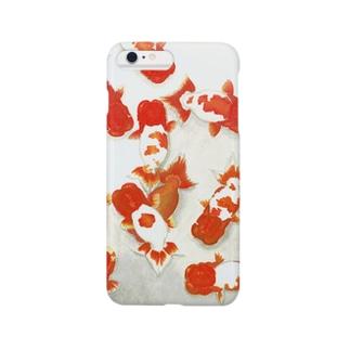 【金魚】宇野系ランチュウ~秋の群泳~ Smartphone cases