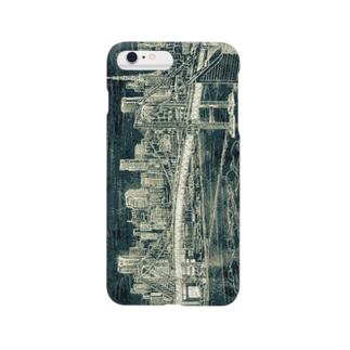 iPhoneケース レインボーブリッジ(黒板アート) Smartphone cases