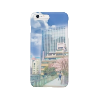 iPhoneケース 汐留 桜 Smartphone cases
