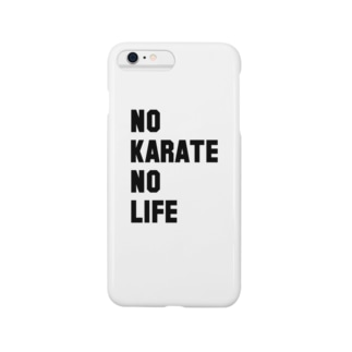 NO KARATE NO LIFE (ブラックフォント) Smartphone cases
