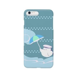 夏を楽しみたいシマエナガ Smartphone cases