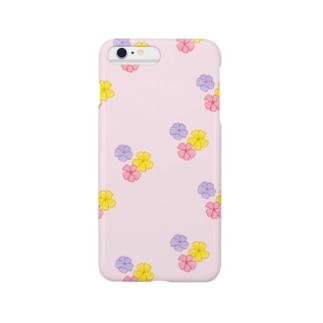 3色花柄(ピンク) Smartphone cases