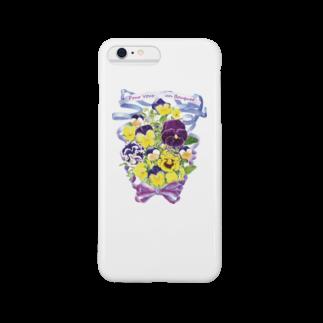 botanical_art_salonの花束を君に ボタニカルアート 花柄 iphoneケース Smartphone cases