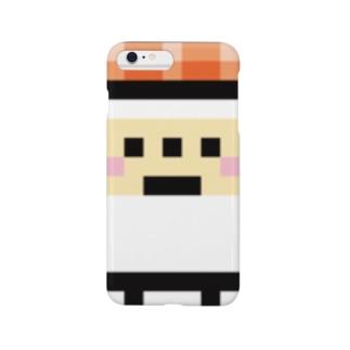 PixelArt スシスッキー サーモン スマートフォンケース