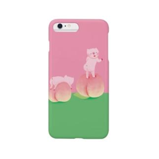 桃とブタの桃尻 Smartphone cases