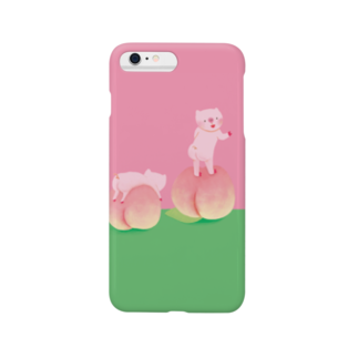 はだかんぼうのコブタたちの桃とブタの桃尻 Smartphone cases