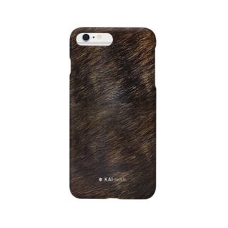 甲斐犬の毛並みスマホケース Smartphone cases
