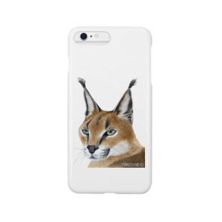 ねこー3 カラカルイラスト Smartphone cases